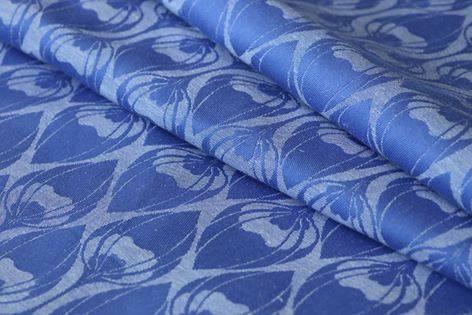 Yaro Slings La Fleur Blue Natural Ruildoek